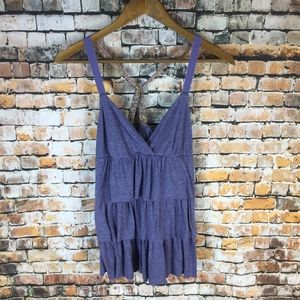 American Eagle Cute Ruffled Tank Top
